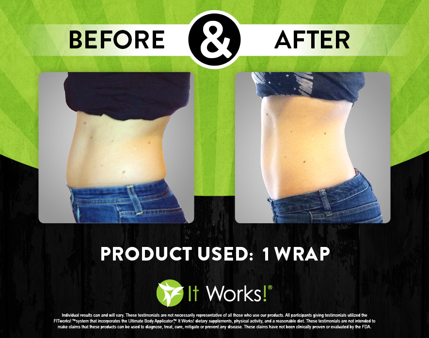 It Works Body Wraps Before and After