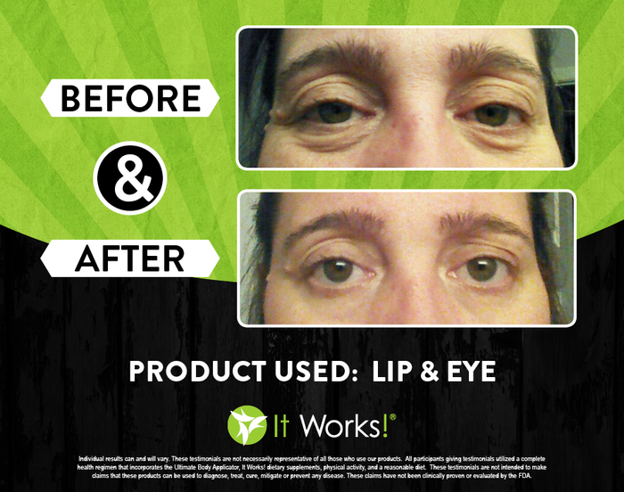 It Works Lip and Eye Before and After